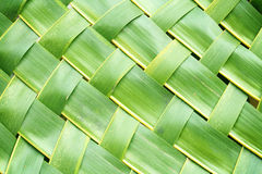 Zigzag interlocking of coconut leaves weave. For background Stock Photography