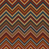 Zigzag Knitted Pattern. Seamless Background Stock Photography