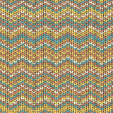 Zigzag knitted seamless pattern vector Royalty Free Stock Photo