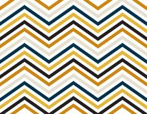 Zigzag lines of blue, gold, grey and black color on white background. Luxury style for artwork, wallpaper, background, texture Stock Photography