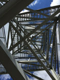 Zigzag metal stairway Stock Images