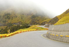 Zigzag mountain road. In the central Taiwan Stock Photography