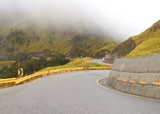 The zigzag mountain road Royalty Free Stock Images