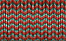 Zigzag naadloos breiend kleurrijk patroon Royalty-vrije Stock Afbeeldingen