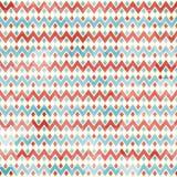 Zigzag naadloos patroon met grungeeffect Royalty-vrije Stock Fotografie