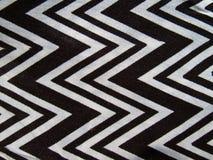 Zigzag noir et blanc Image stock