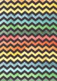 Zigzag op een gekleurde achtergrond De Achtergrond van de waterverfkleur Zwarte zigzag op een gekleurde achtergrond royalty-vrije illustratie