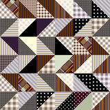 Zigzag patchwork. Seamless background pattern. Will tile endlessly Stock Images
