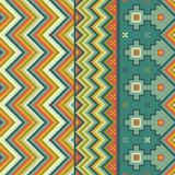 Zigzag pattern. With accents of ethnic motifs royalty free illustration