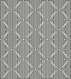 Zigzag pattern with line in black and white Royalty Free Stock Photography