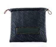 Zigzag pattern on Drawstring Bag on white background Stock Photography