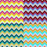 Zigzag pattern. Multicolored zigzag pattern of four parts Royalty Free Stock Images