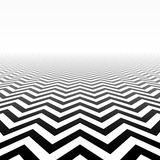 Zigzag pattern perspective. Zigzag pattern in perspective illustration Stock Photos