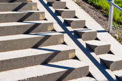 Zigzag pattern on stairs Stock Image