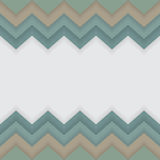 Zigzag pattern with white space for text or logo. Vector illustration Stock Photos