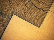 Zigzag pattern with wooden beams. Abstract background or texture zigzag pattern with wooden beams stock photography