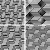 Zigzag patterns. Seamless textures set. Stock Image