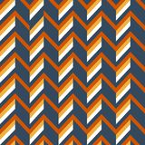 Zigzag Retro Background with Simple 3D Effect royalty free illustration