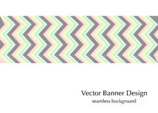 Zigzag retro fashion banner Royalty Free Stock Images