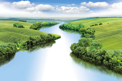 Zigzag river Stock Photo
