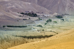 Zigzag road - jilabi road at old route of Leh Srinagar Highway, Ladakh, Jammu and Kashmir, India Stock Photos