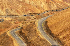 Zigzag road, Leh Srinagar Highway, Ladakh, Jammu and Kashmir, India Stock Image