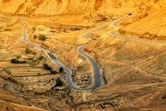 Zigzag road, Leh Srinagar Highway, Ladakh, Jammu and Kashmir, India Royalty Free Stock Photos