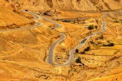 Zigzag road, Leh Srinagar Highway, Ladakh, Jammu and Kashmir, India Stock Image