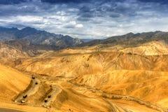 Zigzag road, Leh Srinagar Highway, Ladakh, Jammu and Kashmir, India Royalty Free Stock Images