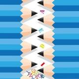Zigzag row pencil. Zigzag row pencil by idea Royalty Free Stock Images
