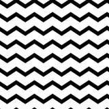 Zigzag sans couture géométrique moderne de modèle Vagues de noir Fond rayé de classique rétro Illustration de vecteur illustration stock