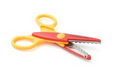 Zigzag scissors Stock Photos
