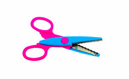 Zigzag scissors for art Stock Image