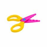 Zigzag scissors for cut paper about art Stock Images