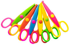 Zigzag scissors set Stock Image