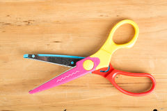 zigzag scissors Royalty Free Stock Images