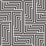 Zigzag seamless background. Black and white zigzag pattern Royalty Free Illustration