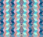 Zigzag seamless patchwork pattern. Stock Photography