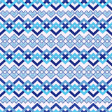 Zigzag seamless pattern in blue Stock Photo