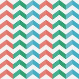 Zigzag seamless pattern. Chevron. Multicolored vertical stripes with shadow.. Texture for clothes, sweater, t-shirt, wallpaper, table cloth and other textile Royalty Free Stock Photo