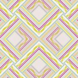Zigzag seamless pattern of colored lines and dots. Stock Photo