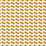 Zigzag seamless pattern. Gold shiny template. Abstract geometric texture. Golden ribbons. Retro Vintage decoration. Design templat Stock Photography