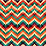 Zigzag seamless pattern with grunge effect stock illustration