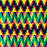 Zigzag seamless pattern with grunge effect Stock Images