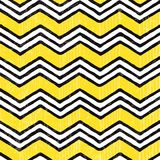 Zigzag seamless pattern. Hand-drawn vector Stock Photos