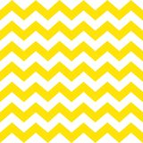 Zigzag seamless pattern. Yellow stripes on a white background. Classic traditional geometric ornament. Seamless monochrome wavy stripes background. Vector Royalty Free Stock Image