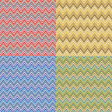 Zigzag. Sets in four different colorings Royalty Free Stock Images