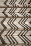 Zigzag shades on stone stairs. With texture Stock Photos