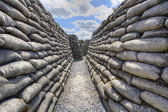 Zigzag shape of the trenches of death Royalty Free Stock Images