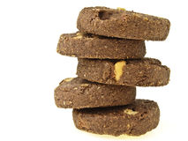 Zigzag stack cookie Royalty Free Stock Photo